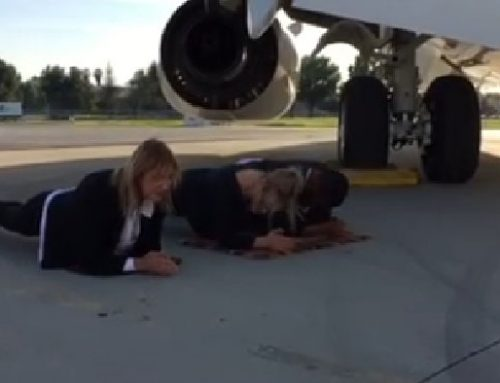 Day 4 of the Plank – on the Tarmac at Van Nuys Airport under a BBJ