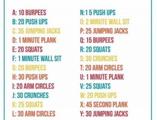 Spell Your Name Fitness Challenge